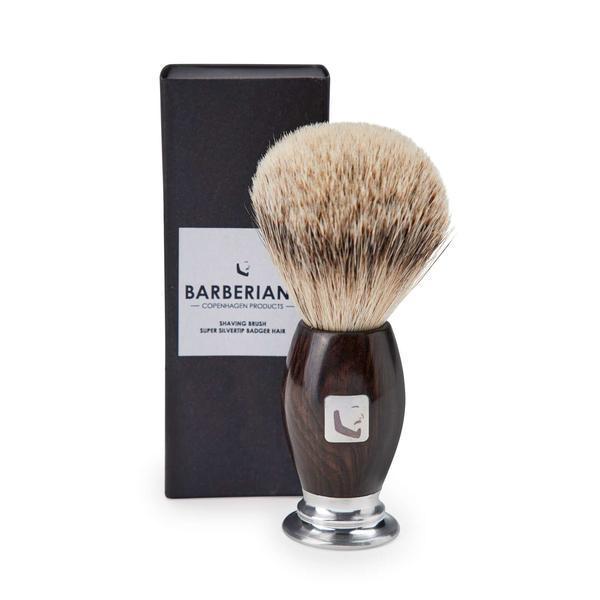 Perie profesionala pentru barbierit, Barberians Silver Tip imagine produs