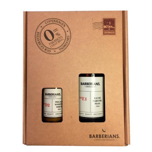 Set cadou apa de parfum 100ml + ser anti-age 30ml pentru barbati, Barberians imagine produs