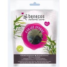 Burete Konjac cu Carbune de Bambus pentru Ten Gras si Acnee Benecos
