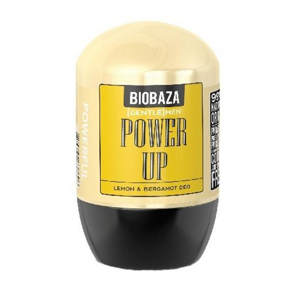 Deodorant Natural pentru Barbati POWER UP cu Lamaie si Bergamot Biobaza, 50ml poza
