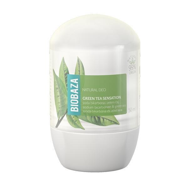 Deodorant Natural pentru Femei GREEN TEA SENSATION cu Ceai Verde si Bicarbonat Biobaza, 50ml imagine produs