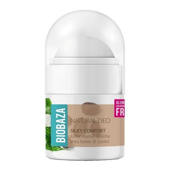 Mini Deodorant Natural pentru Femei SILKY COMFORT cu Shea si Jojoba Biobaza, 20ml