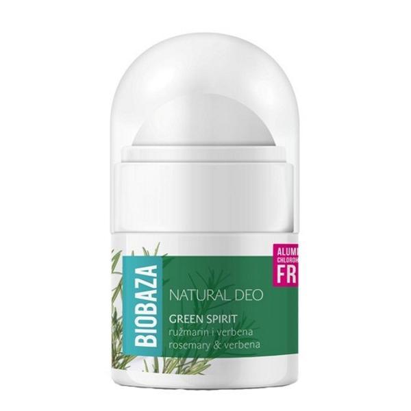 Mini Deodorant Natural pentru Femei GREEN SPIRIT cu Verbina si Rozmarin Biobaza, 20ml