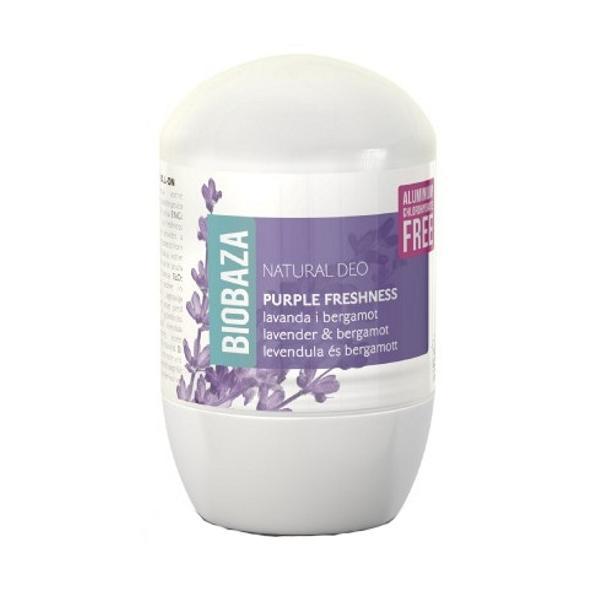 Deodorant Natural pentru Femei PURPLE FRESHNESS cu Lavanda si Bergamot Biobaza, 50ml imagine produs