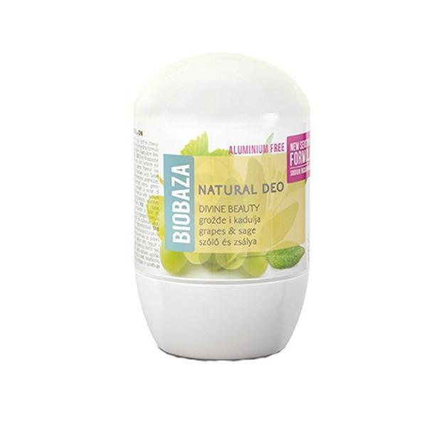 Deodorant cu Bicarbonat pentru Piele Sensibila DIVINE cu Salvie si Struguri Biobaza, 50ml imagine produs