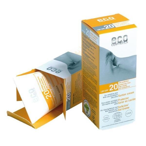 Crema Bio pentru Protectie Solara SPF 20 Eco Cosmetics, 75ml imagine produs
