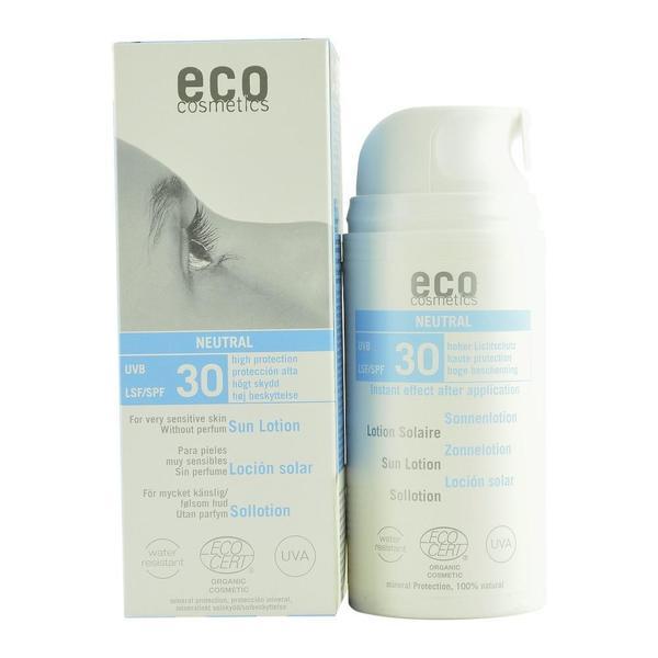 Lotiune Fluida de Protectie Solara SPF 30 Fara Parfum Eco Cosmetics, 100ml poza