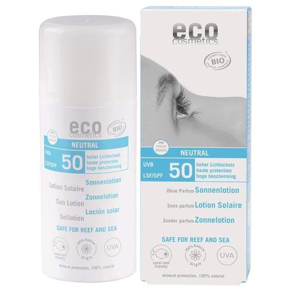 Lotiune Fluida de Protectie Solara SPF 50 Fara Parfum Eco Cosmetics, 100ml