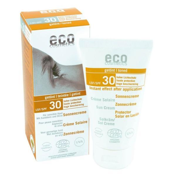 Crema Bio pentru Protectie Solara Inalta SPF 30 Nuantata Eco Cosmetics, 75ml imagine produs