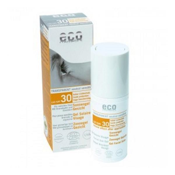 Gel Facial Transparent cu Protectie Solara Inalta SPF 30 Eco Cosmetics, 30ml imagine produs