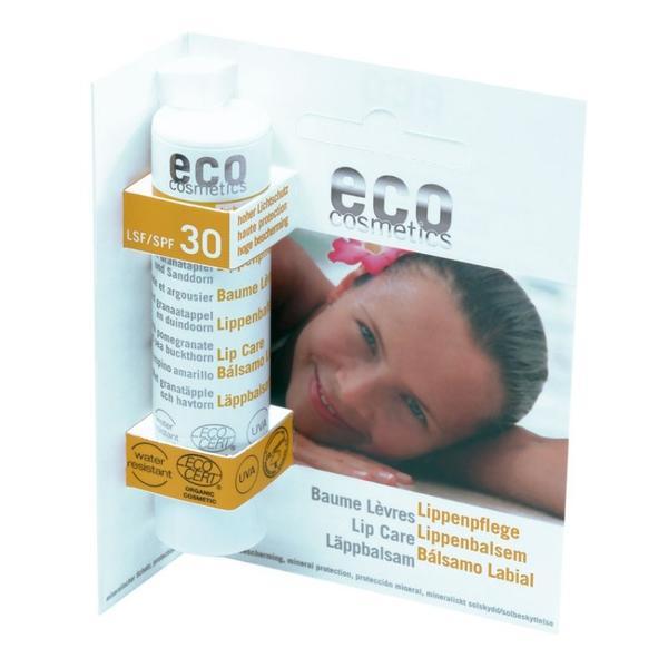 Balsam de Buze Bio cu Protectie Solara Inalta SPF 30 Eco Cosmetics, 4g poza