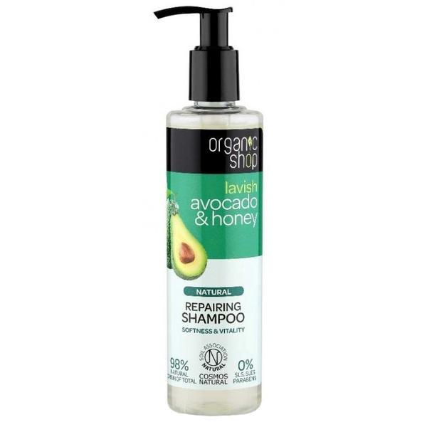 Sampon Bio Reparator cu Avocado & Miere Organic Shop, 280ml poza