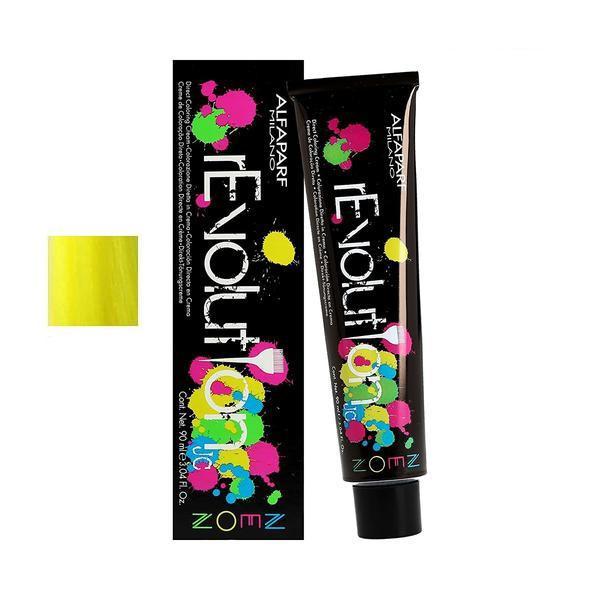 Crema Colorare Directa - Alfaparf Milano Jean's Color rEvolution Direct Coloring Cream Neon ATOMIC YELLOW 90 ml imagine produs
