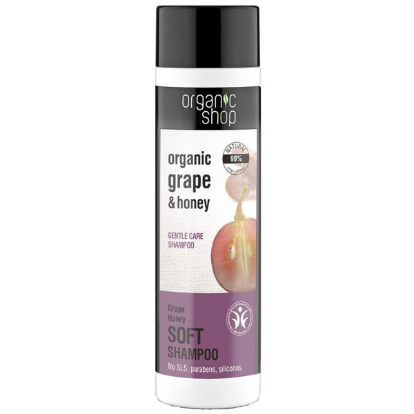 Sampon Bland cu Miere si Struguri Grape Honey Organic Shop, 280ml poza