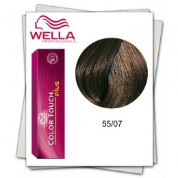 Vopsea fara Amoniac - Wella Professionals Color Touch Plus nuanta 55/07 castaniu deschis intens natural castaniu