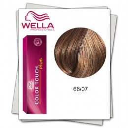 Vopsea fara Amoniac - Wella Professionals Color Touch Plus nuanta 66/07 blond inchis intens natural castaniu