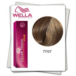 Vopsea fara Amoniac - Wella Professionals Color Touch Plus nuanta 77/07 blond mediu intens natural castaniu