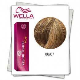 Vopsea fara Amoniac - Wella Professionals Color Touch Plus nuanta 88/07 blond deschis intens natural castaniu