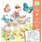 Planse de desenat cu surprize Djeco, Lady butterfly