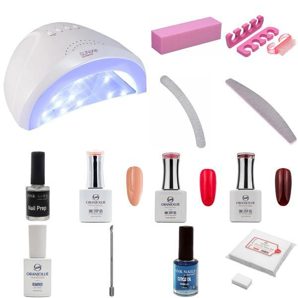 Kit unghii oja semipermanenta One Step Gel cu Lampa UV LED 48W imagine produs