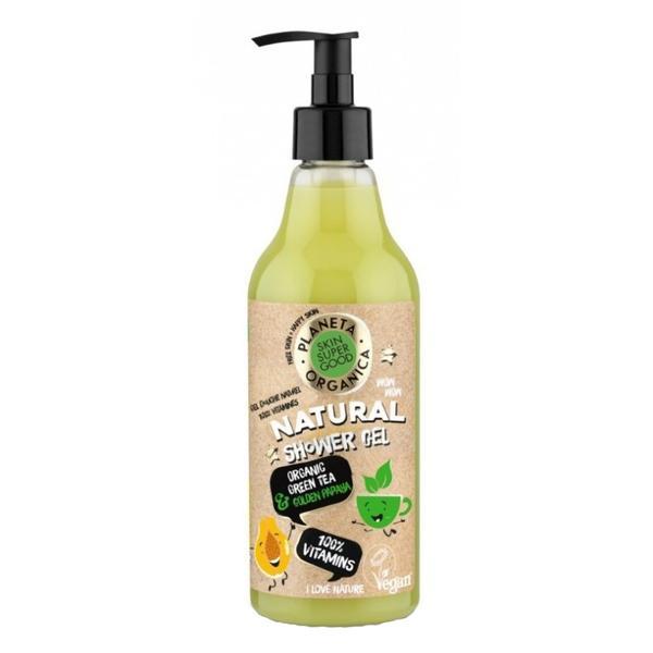 Gel de Dus Natural 100% Vitamins Skin Super Good Planeta Organica, 500ml imagine produs