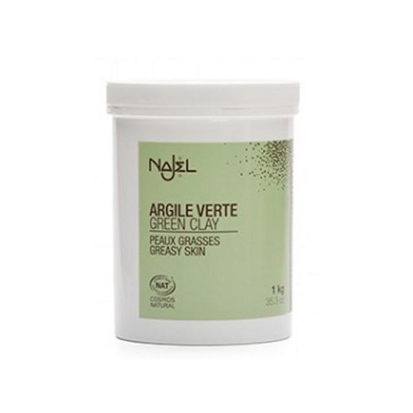 Argila Verde Frantuzeasca pentru Ten Mixt sau Gras Najel, 1 kg imagine produs