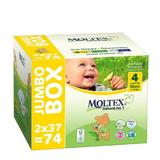 Pachet Jumbo Scutece eco nr. 4 7-18kg Moltex 74 buc