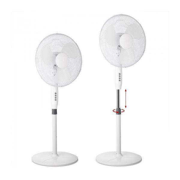 Ventilator cu piedestal, Puternic, 3 nivele, Reglabil pe inaltime, Rotativ, Ø 43cm