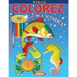 Colorez lumea acvatica - Petru Ghetoi, editura Casa Povestilor