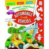 Coloreaza si completeaza imagini cu automobile si alte vehicule, editura Arc