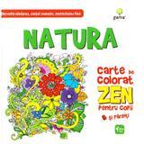 Natura. Carte de colorat Zen pentru copii, editura Gama