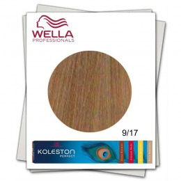 Vopsea Permanenta - Wella Professionals Koleston Perfect nuanta 9/17 blond luminos cenusiu castaniu