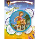 Pinocchio: carte de colorat + poveste. Carla coloreaza, editura Astro