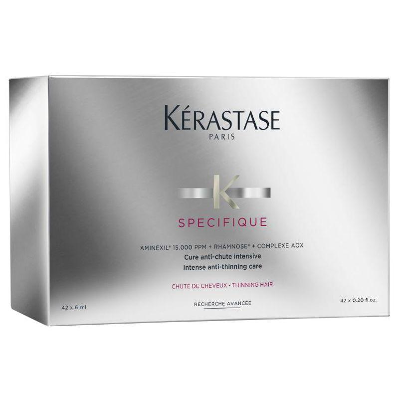 Tratament Intensiv Impotriva Caderii si Subtierii Parului - Kerastase Specifique Aminexil GLM + AOX Complex 42 fiole x 6 ml