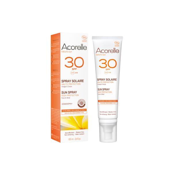 Spray protectie solara SPF 30 bio, Acorelle 100ml