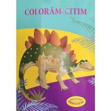 Coloram-citim: Stegozaur. Dinozauri, editura Biblion