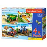 Puzzle 4 in 1. Agricultural machines