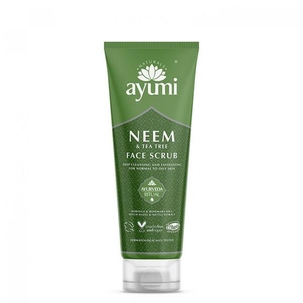 Exfoliant Facial cu Neem & Tea Tree Ayumi, 125ml imagine produs