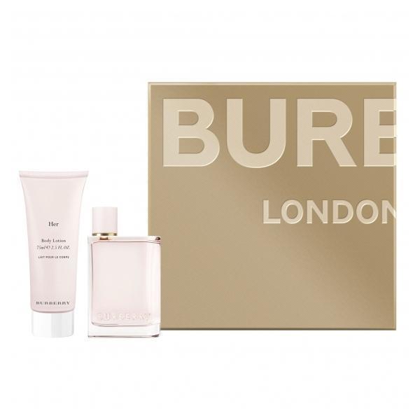 Set cadou Burberry, Her, Femei: Apa de Parfum, 50 ml + Lotiune de corp, 75 ml