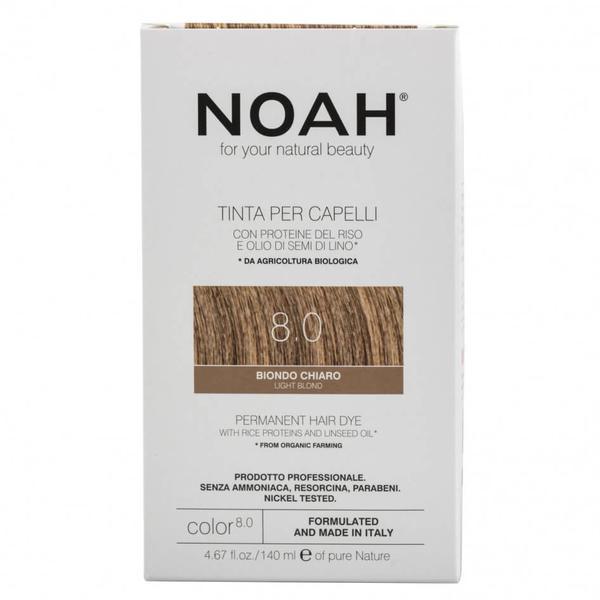 Vopsea de Par Naturala Blond Deschis 8.0 Noah, 140ml imagine produs