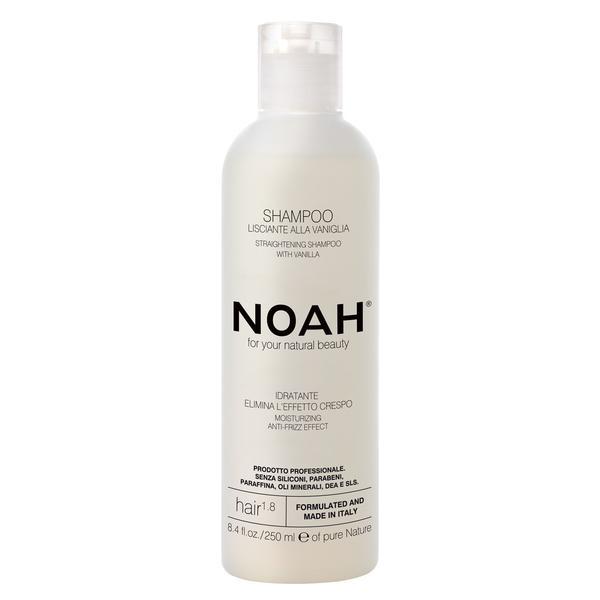 Sampon Natural pentru Indreptarea Parului cu Extract de Vanilie 1.8 Noah, 250ml imagine