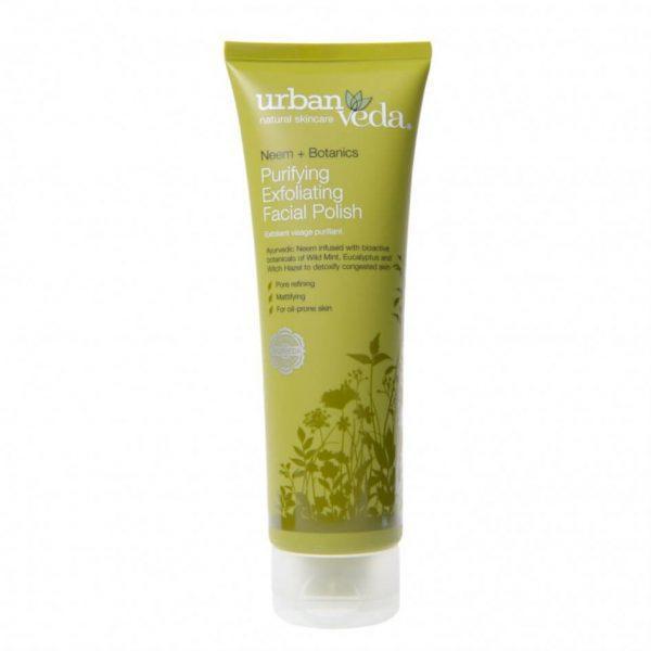 Exfoliant pentru Curatare Faciala cu Extract de Neem Organic pentru Ten Gras Purifying - Urban Veda, 125 ml