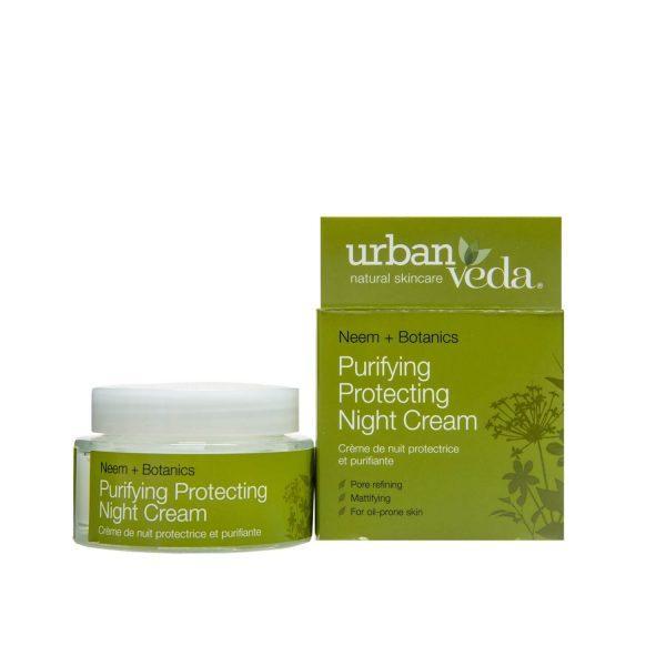 Crema de Noapte Matifianta cu Extract de Neem Organic pentru Ten Gras Purifying - Urban Veda, 50 ml imagine produs