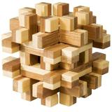 Joc logic IQ din lemn bambus Magic blocks puzzle 3d - Djeco