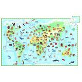 Puzzle observatie Animalele lumii - Djeco