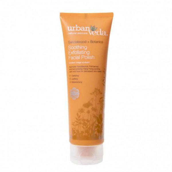 Exfoliant Hidratant pentru Curatare Faciala cu Extract de Lemn de Santal Organic pentru Ten Sensibil Soothing - Urban Veda, 125 ml imagine produs