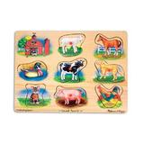 Puzzle lemn cu sunete Animale de la Ferma