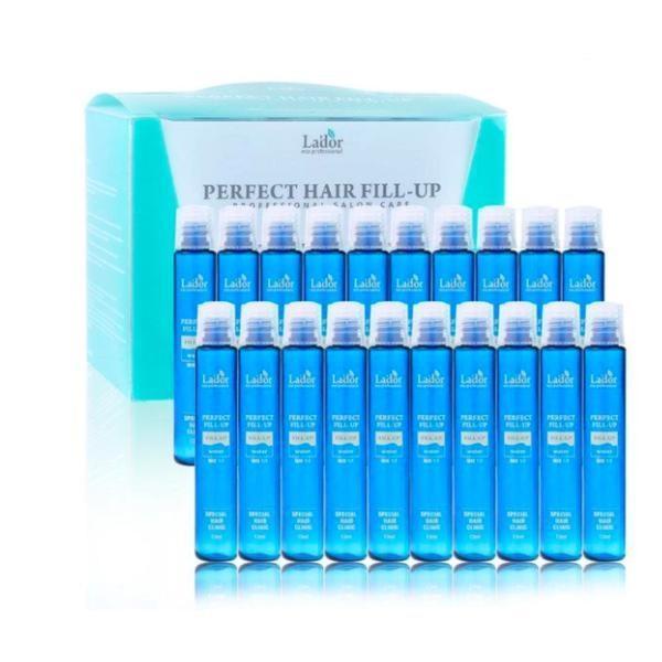 Solutie pentru refacerea structurii parului Perfect Hair Filler, Lador 20 buc x 13 ml imagine