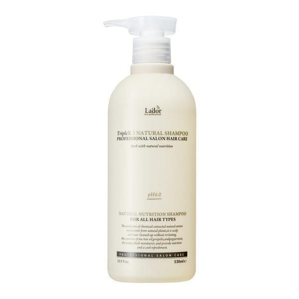 Sampon cu proteine de matase si keratina Triplex 3 Natural Shampoo La'dor 530 ml