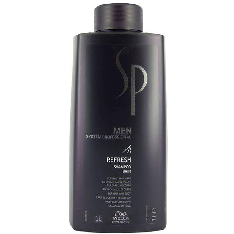 Sampon Revitalizant - Wella SP Men Refresh Shampoo 1000 ml imagine